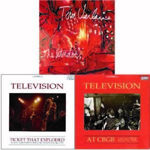 TOM VERLAINE, TELEVISION  Collectors edition 3Title SET  3CD