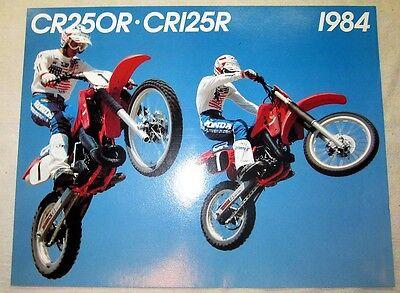 1984 84 CR125 CR250 Sales Brochure New! Original!