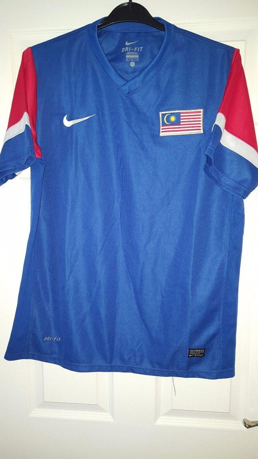 Para Hombres Camisa De Fútbol-Malasia Equipo Nacional-Nike-Away 2010-2011 - Azul-XL