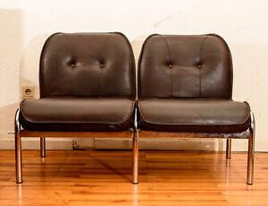 Sessel Designer Girsberger Eurochairs Vintage Kult Original Leder