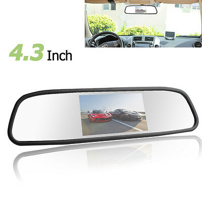 4.3 Inch Color TFT-LCD Screen Windshield 2-CH Input Car Rear View Mirror Monitor