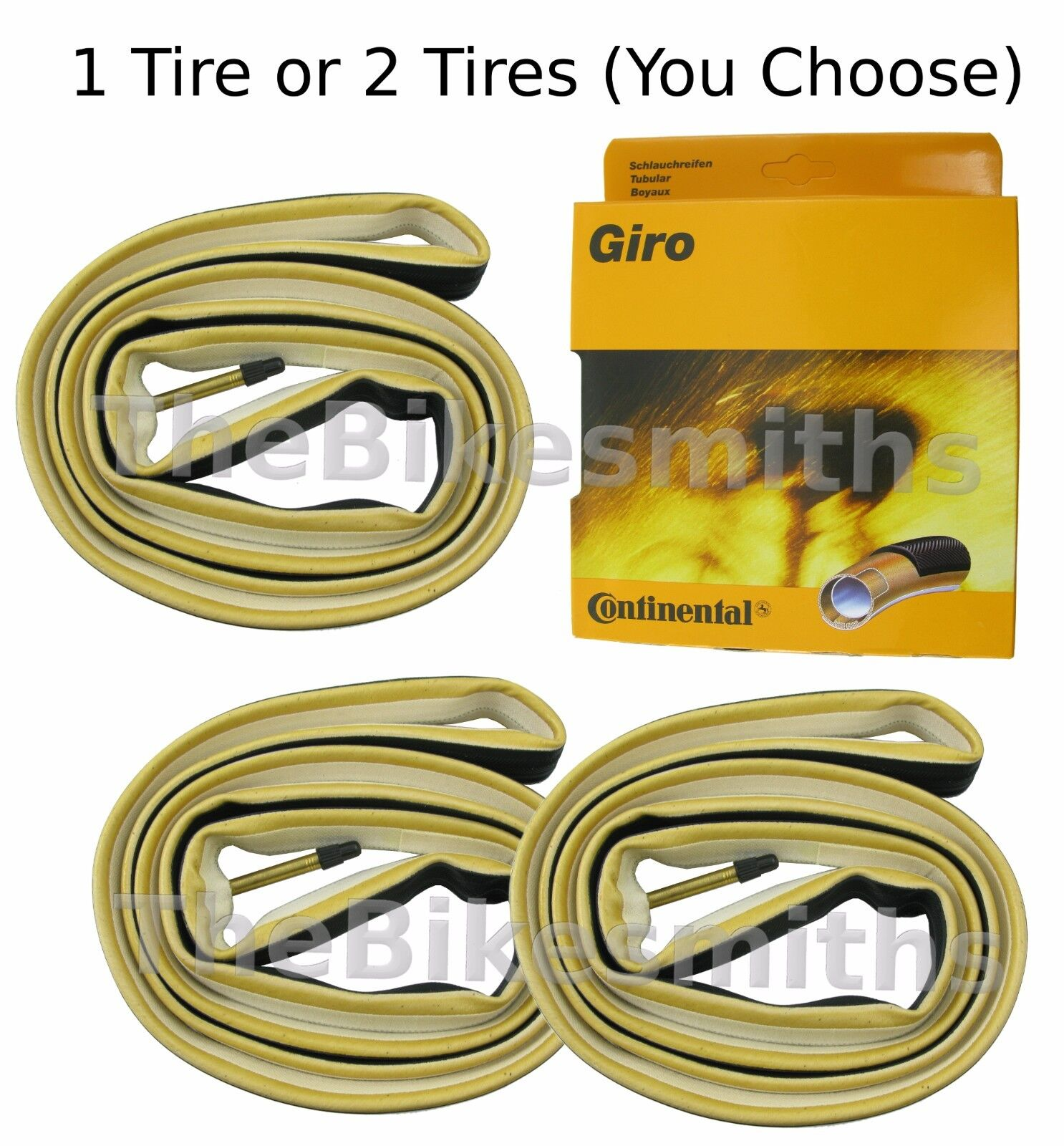 1 or 2 PAK Continental Giro Tubular Sew Up Bike Tire 700c (28 )x 22mm 300g Race