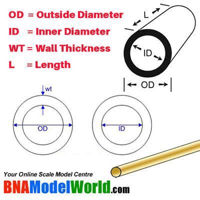 4pcs L: 300mm K/&S Metals Round Brass Rod OD: 2.5mm