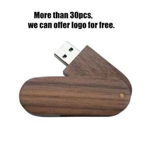 Personalized Custom Swivel Maple Wood USB Flash Drive Photography Pendrive 16GB