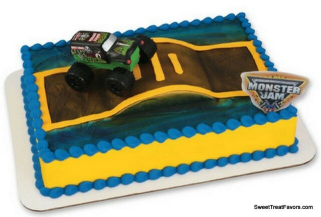 Monster Jam Cake Decoration Topper Party Supplies Set Birthday Truck Races Cars Ebay