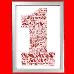 Image Is Loading 1ST BIRTHDAY WORD ART FANTASTIC Amp UNIQUE GIFT