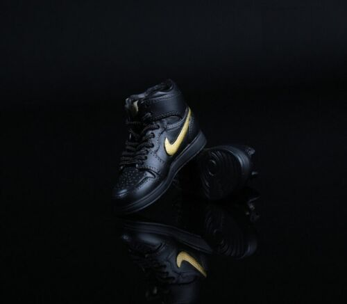 """1//6 Hommes Sneaker Chaussures Sport air Or Noir Pour 12/"""" Figurine Hot Toy PHICEN ❶ USA ❶"""