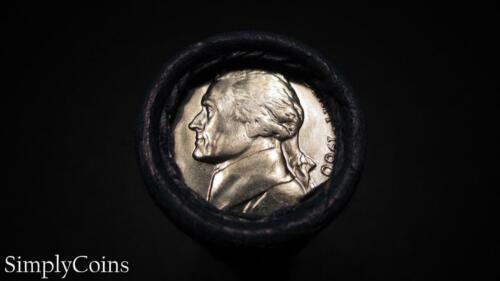 40 1960-D Jefferson Nickel Shotgun Roll ~ BU Uncirculated ~ US Coin Lot