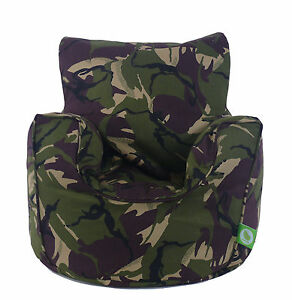 Merveilleux Image Is Loading Cotton Army Camo Camouflage Bean Bag Arm Chair