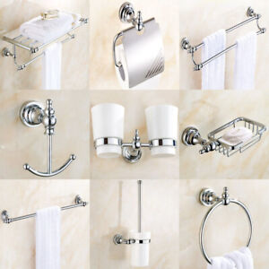 Polished Chrome Brass Bathroom, Modern Chrome Bathroom Accessories Set
