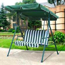 Medium image of 2 seater outdoor patio garden swing cushioned canopy furniture hammock green