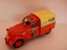 Voiture 1/43 Norev citroën : 2 CV n°134 AZU café NADI 1959
