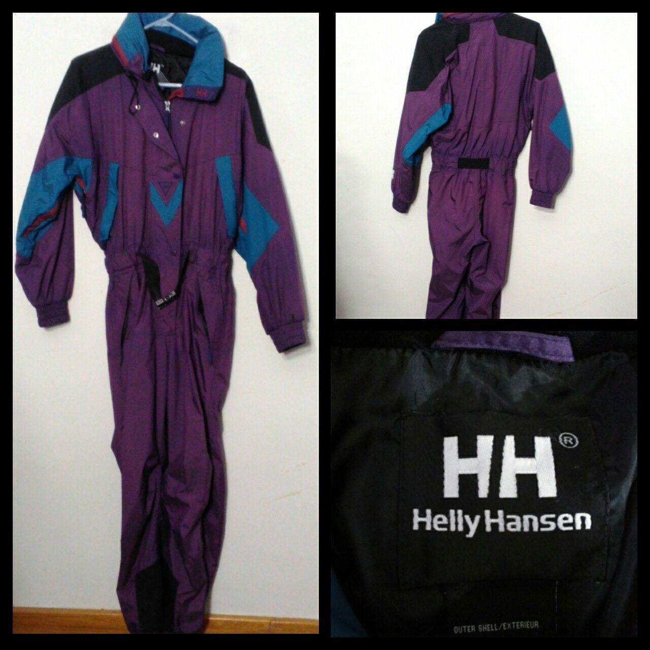 Helly Hansen Vintage Skianzug Outfit Damen Sm. Lila/Blau Voll Ski Outfit Skianzug Inv  S9279 3863e4