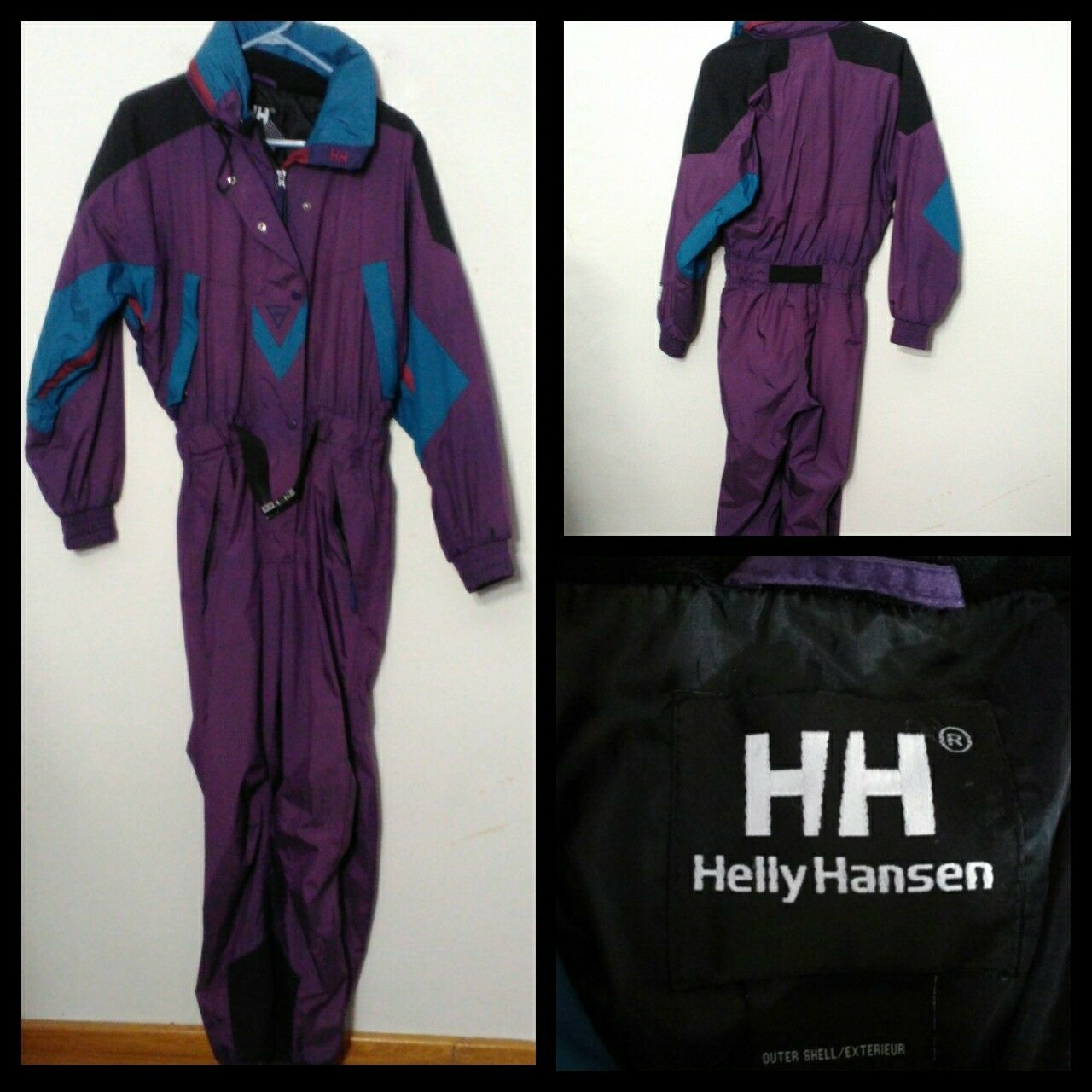 Helly Hansen Vintage Skianzug Damen Sm. Lila/Blau S9279 Voll Ski Outfit Inv  S9279 Lila/Blau cb79a5
