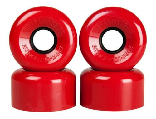 Red Sims Quad Skate Wheels Street Snakes 62mm//78a