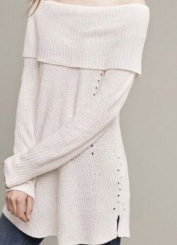NEW Anthropologie Dotted Funnelneck Pullover Neutral color A Must Have RARE