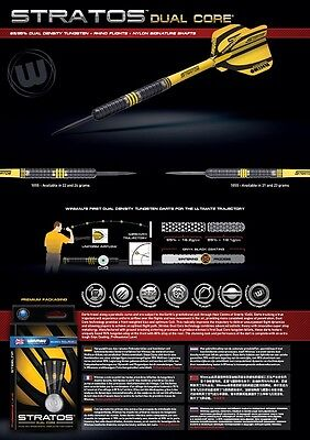 Dual Core 85//95/% Tungsten Darts Winmau Stratos
