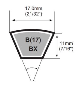 B56-1422MM Pix B Section Vee Belt