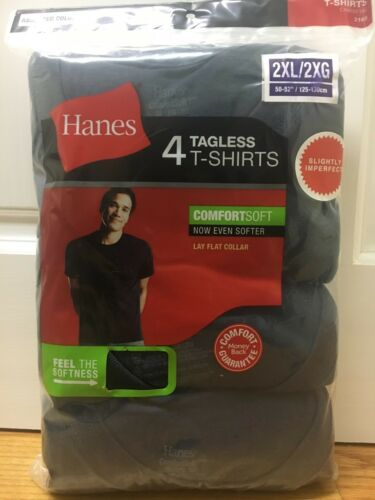 Size Men/'s Hanes Comfortsoft Crew Neck S//S Tagless 4-Pack T-shirts By Color