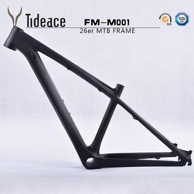 26er Cycling Mountain Bike Frame T800 Carbon Fiber MTB Bicycle Frameset OEM