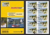 Bund Folienblatt 18 gest. 10 x Nr. 2908 aus 2012  Nationalpark Jasmund ESST