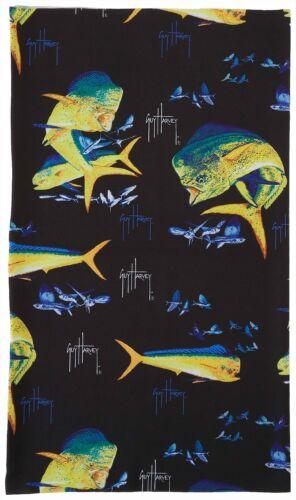 Guy Harvey Mens Dolphin Fish Face /& Neck Gaiter One Size Black//multi