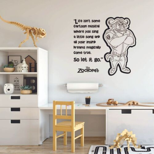 Details about  /Let It Go Zootopia Kids Cartoon Vinyl Art Sticker For Home Room Wall Decals