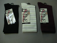 NWT Women's Hue Comfort Top Ultrasmooth Socks One Size 3 Pair Multi #810E