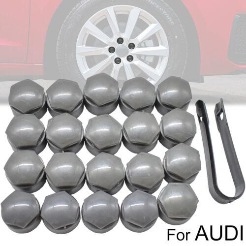 20× Radmutter Kappen Radschraubenkappen Für Audi Q3 Q5 TT A6 A8 25mm Grau