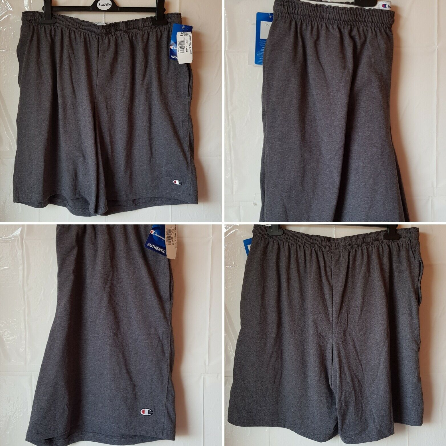 Mens champion grey shorts size XL brand new with tags