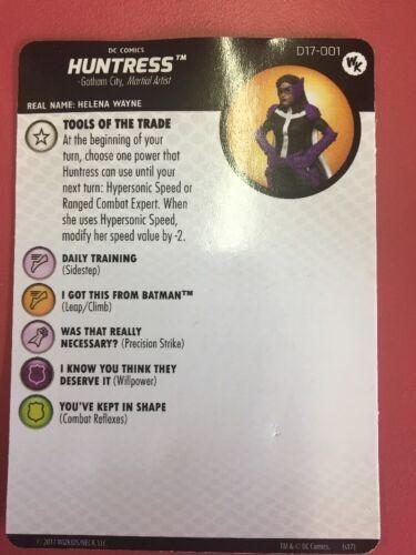 HUNTRESS #D17-001 W// CARD DC HEROCLIX LIMTED EDITION