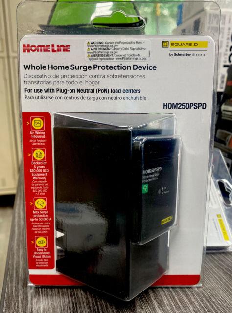 Square D Homeline Whole Home Surge Protection Device Plug On Neutral HOM250PSPD