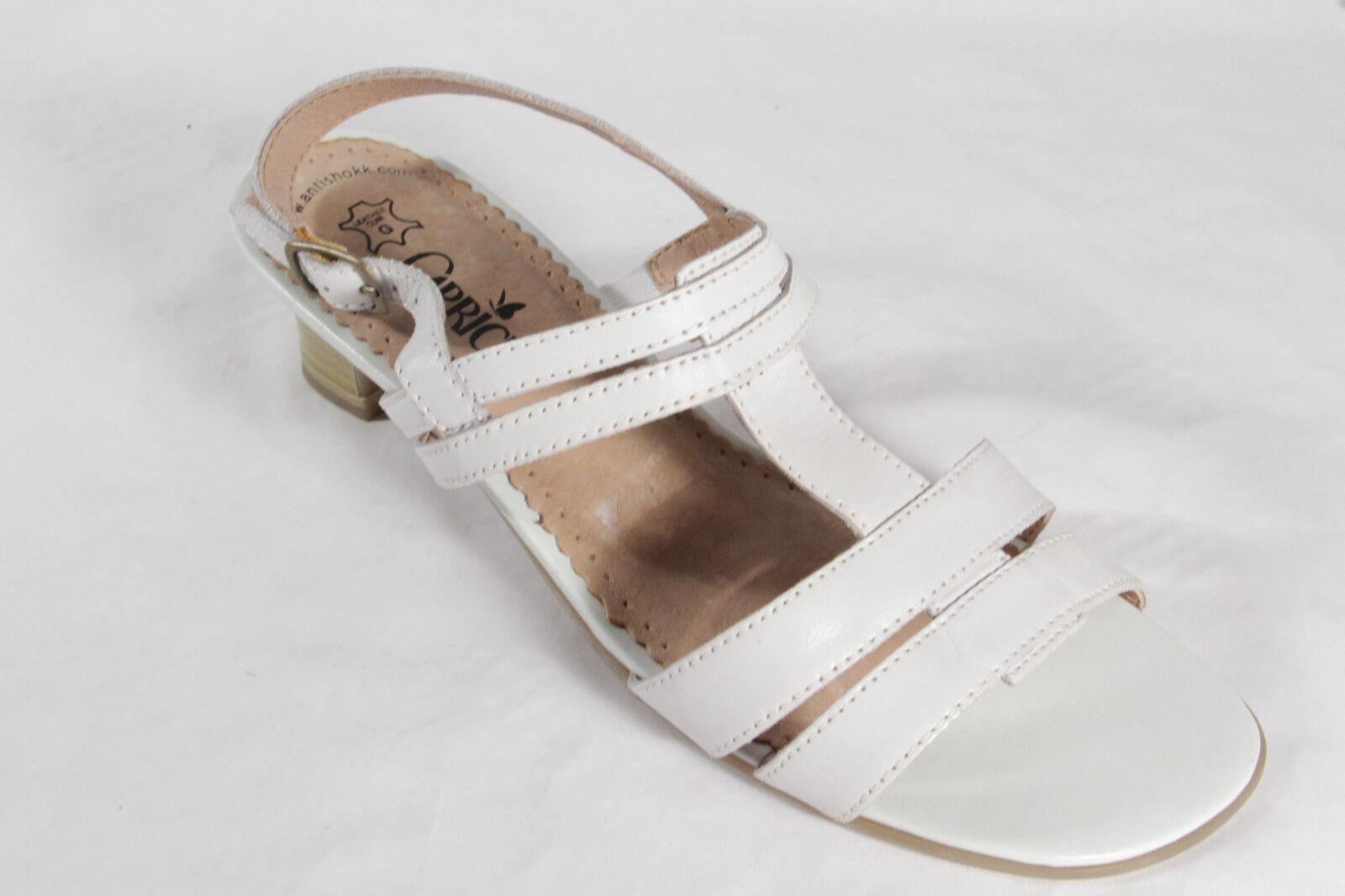 Damen Caprice Sandalen Sandaletten Echtleder Neu offWeiß Neu Echtleder fa8d6e