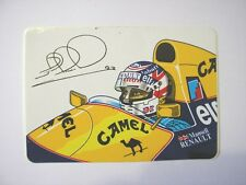 ADESIVO AUTO F1 anni '80 / Old Sticker NIGEL MANSELL RENAULT CAMEL (cm 10x7)