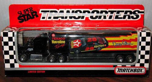 MATCHBOX DAVEY ALLISON TRANSPORTER NEW MINT NRFB HAVOLINE SUPER STAR