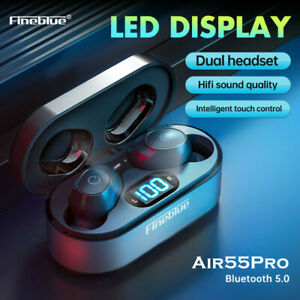 Fineblue Air55Pro TWS Bluetooth 5 Earphones Headphones Headsets Earbud Chargecas