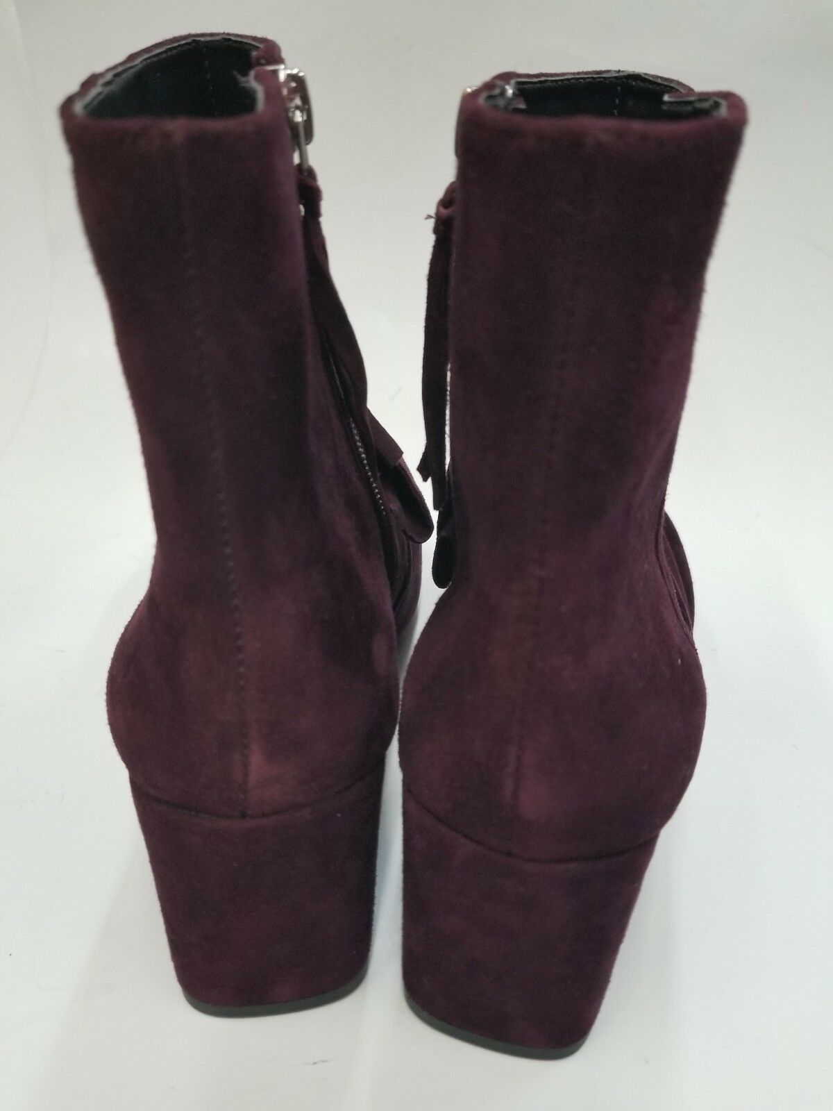 NEW REBECCA MINKOFF MAROON MAROON MAROON SUEDE ANKLE BOOTS SIZE 6 518f7d