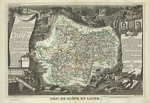 """1857 LeVasseur """"Dept de Saone et Loire  [FRANCE]"""