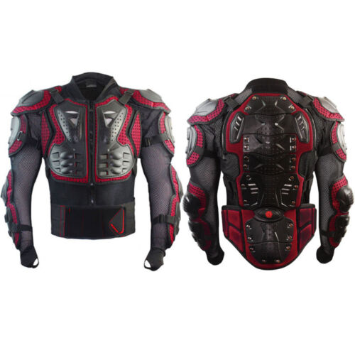 Motorcycle Full Body Armor Shirt Jacket Off-road Back Shoulder Protector Gear XL