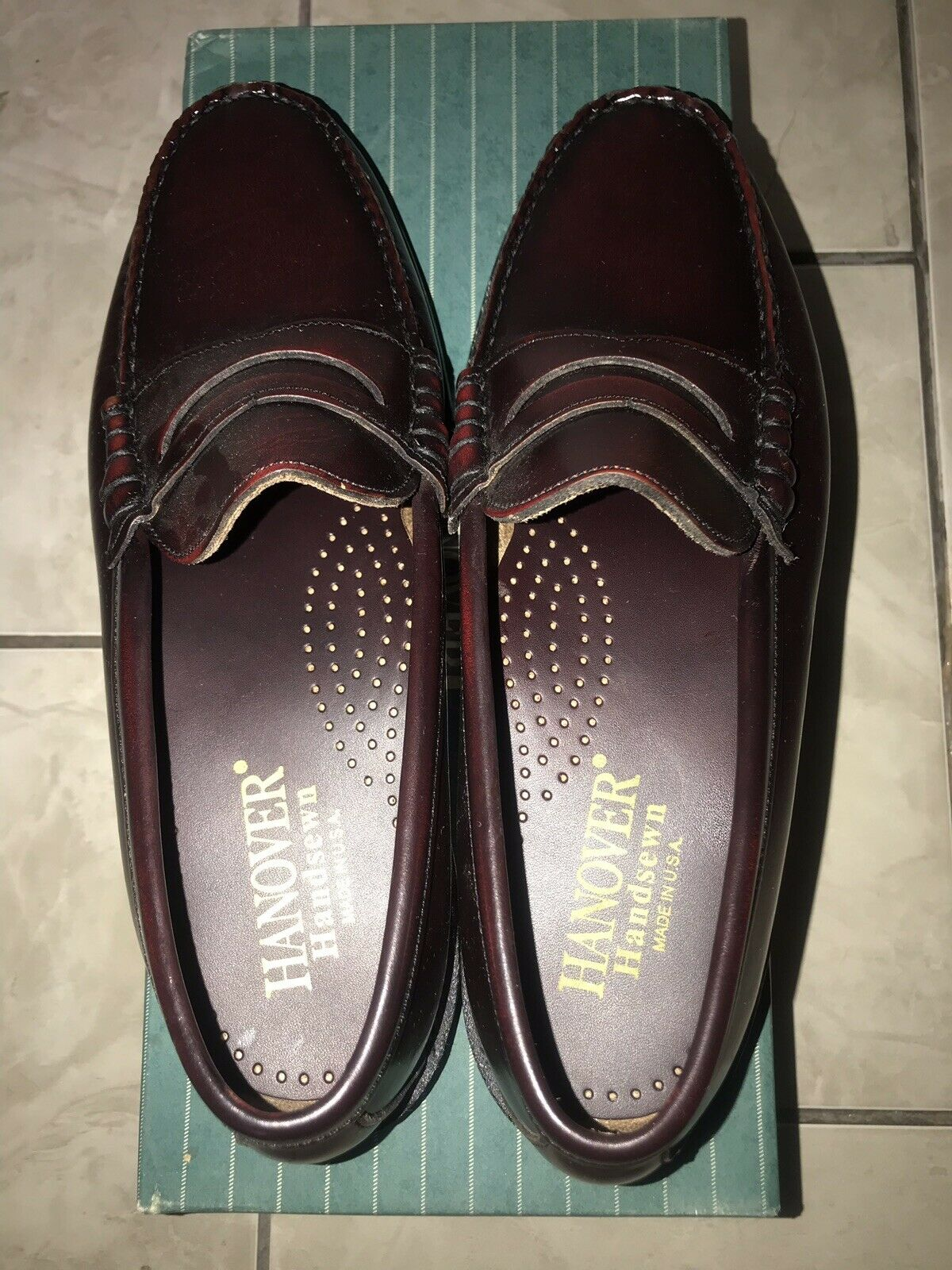 Hanover Smooth Smooth Smooth Cow HS Tassel Leather Men schuhe 8.5 D Made In USA e831bd