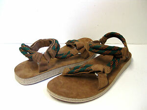 Details about TEVA ORIGINAL UNIVERSAL ROPE MENS HIKING SANDALS GREEN SUEDE SIZE 14 US