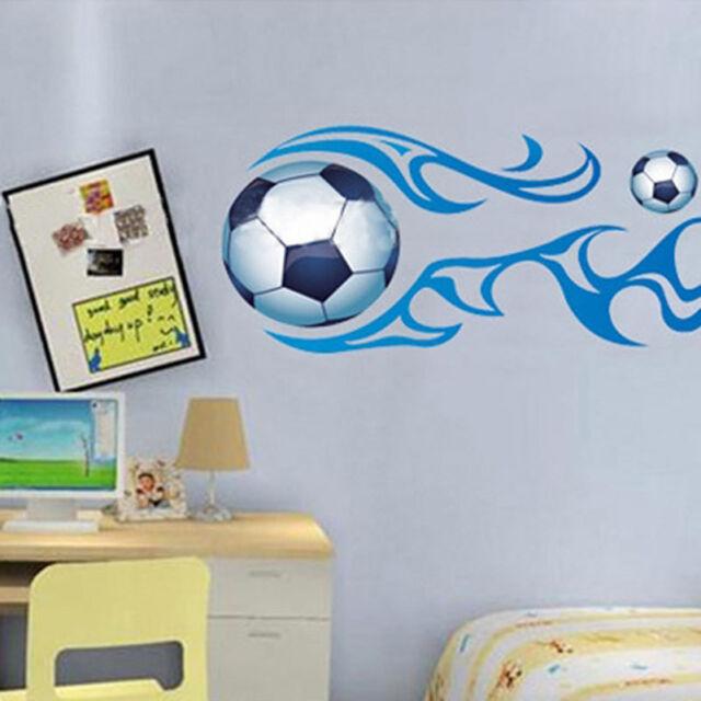 Soccer Ball Football Wall Sticker Decal Kids Room Decor Sport Boy Art Bedroom