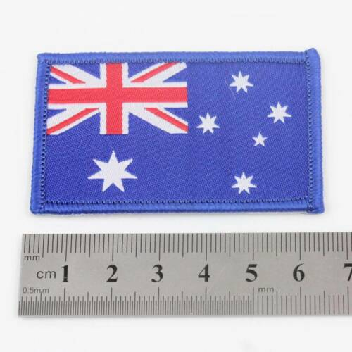 AUSTRALIA IRON ON 6.5cm x 4cm EMBROIDERED AUSSIE NATIONAL FLAG  PATCH BADGE 075