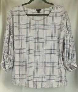Ann-Taylor-size-M-pullover-boxy-fit-tunic-3-4-sleeved