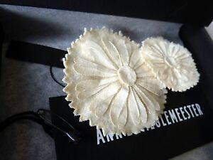 *** Vintage Ann Demeulemeester Brosche / Medaillon 2-tlg. Set, Beige