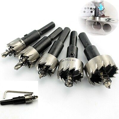Prof Quality 5PCS HSS Drill Bit Hole Saw Set Stainless Steel Metal Alloy 16-30mm
