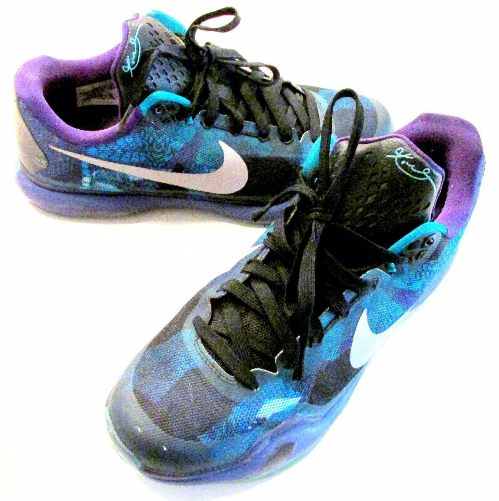 Nike Kobe X 705317-305 Emerald Glow/Court Purple Overcome Men's Size 10.5