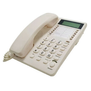 Blue-Donuts-BD-098WHT2-White-Caller-ID-Phone-for-wall-or-desk-with-Speaker-and-M