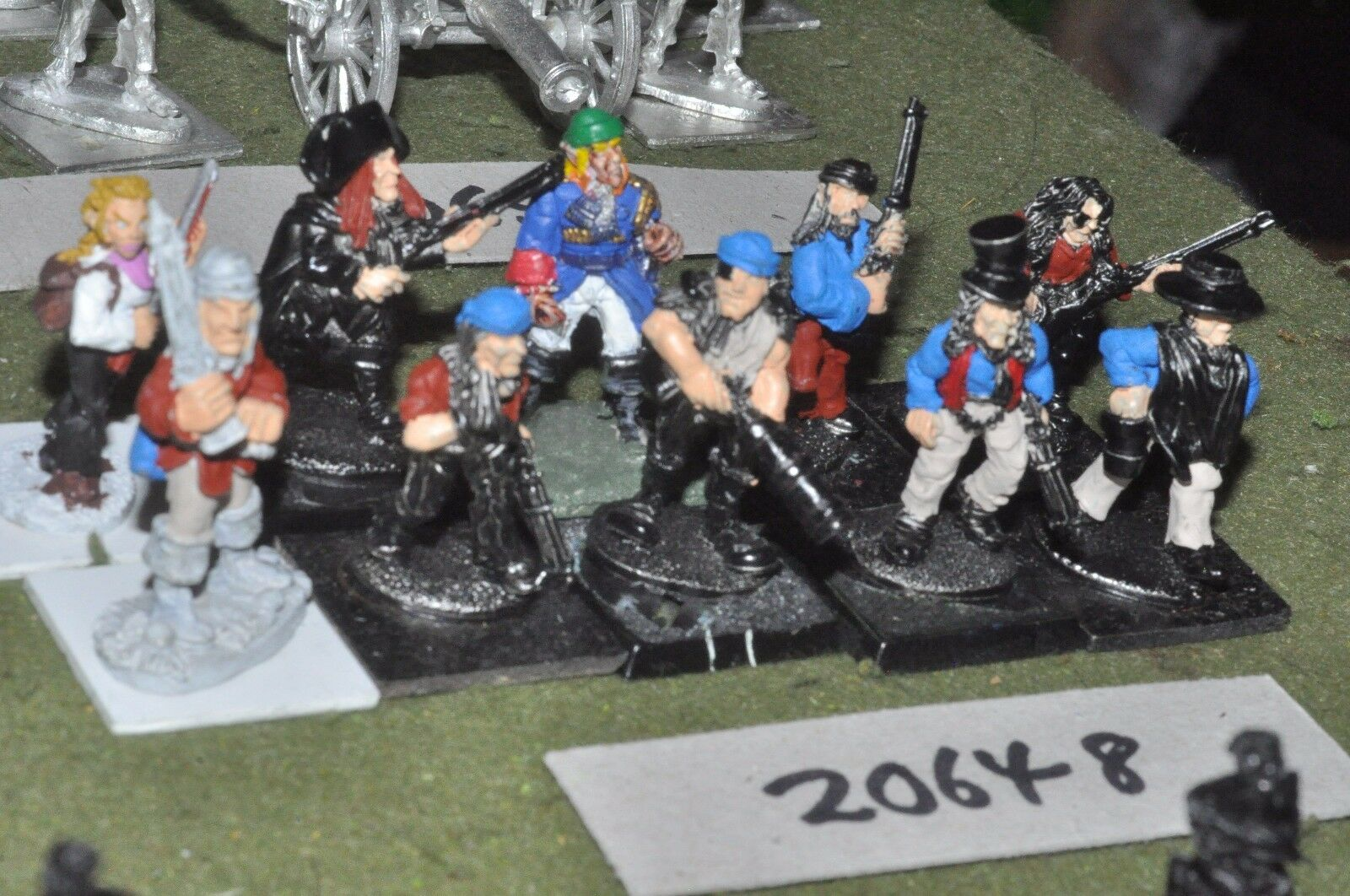 Flintloque pirate infantry 10 figures (as photo) {16} (20648)