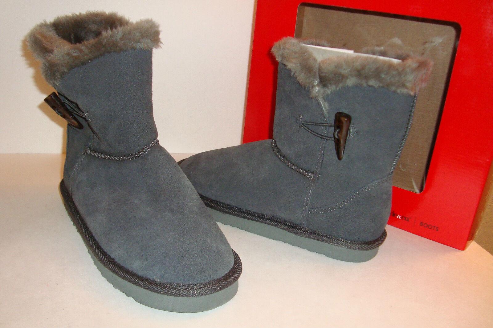 Style & Co Damenschuhe NWB Tiny Leder Grau Stiefel Schuhes 10 MED NEU